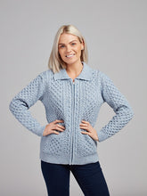 Load image into Gallery viewer, The Ballymore Aran Zip Cardigan