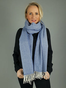 The Ballydehob Lambswool & Cashmere Wide Scarf Wrap