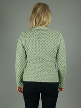 Load image into Gallery viewer, The Ardmore Aran Trellis Knit V Neck Sweater
