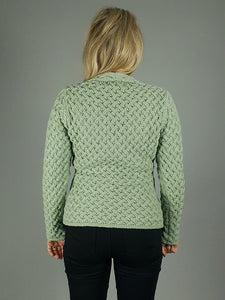 The Ardmore Aran Trellis Knit V Neck Sweater