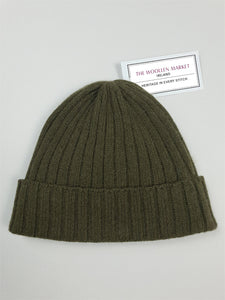 The Louisburg Fine Cashmere Ribbed Beanie