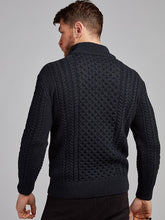 Load image into Gallery viewer, The Ballydesmond Aran Knit Half Zip Sweater