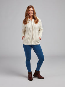 The Ballylongford Aran Knit Zip Hoodie