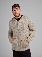 Load image into Gallery viewer, On the picture model is wearing our Cable Knit Mens Hoodie