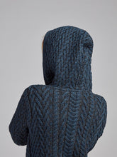 Load image into Gallery viewer, The Doneraile Aran Cable Knit Hoodie Coat