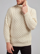 Load image into Gallery viewer, The Drimnagh Aran Polo Neck Sweater