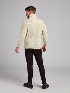 The Drimnagh Aran Polo Neck Sweater