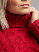Load image into Gallery viewer, The Irish Oir Aran Knit Cable Polo Neck