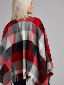 The Newtowncashel Lambswool Cape With Fringe