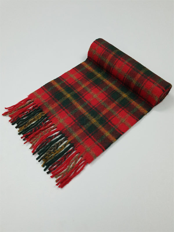 The Dark Maple Tartan Lambswool Scarf