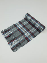 Load image into Gallery viewer, The Grey Steward Tartan Lambswool Scarf