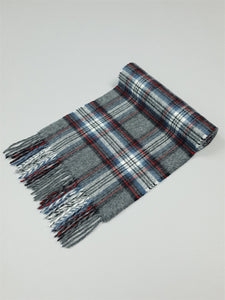 The Grey Steward Tartan Lambswool Scarf