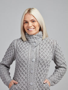 The Mountcollins Aran Knit Button Coat
