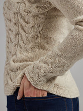 Load image into Gallery viewer, The Sligo Cable Knit Wool & Cashmere V Neck Sweater