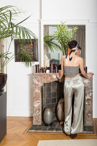 Deco top and Garbo trouser by A.P.Monde. Christina Stohn photography