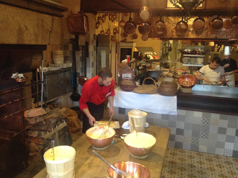 Seeing how the chefs at La Mere Poulard's were whisking their egg whites changed Jonathan's perspective about his copper mixing bowls!