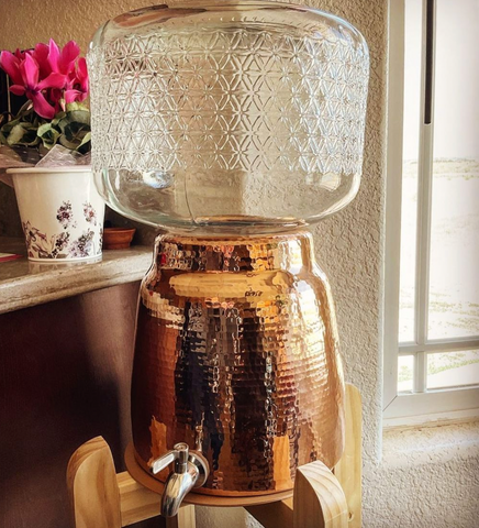 This Niagara Water Dispenser image was taken by our customers who love using her copper water jug dispenser on a daily basis.