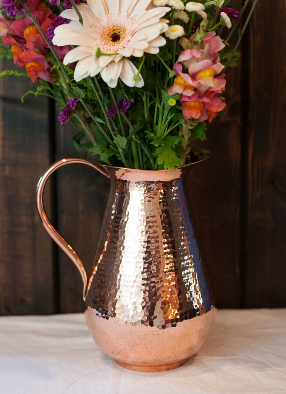 Bisotun Copper Pitcher perfect as a centerpiece or water jug.