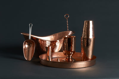 Deluxe Copper Home Bar Set