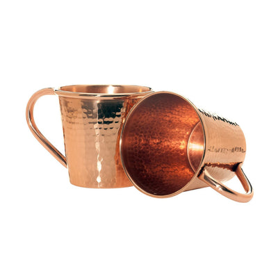 Solid Copper Moscow Mule Mug, Copper Handle, 18 oz