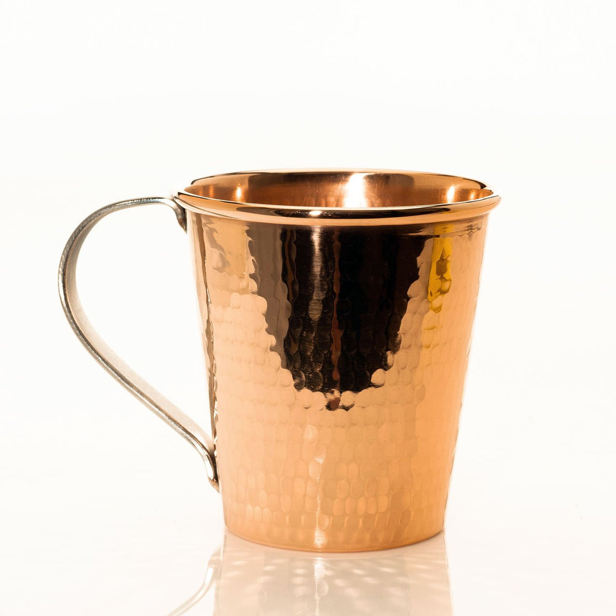Pure Copper Moscow Mule Mug, Stainless Steel Handle, 18 oz