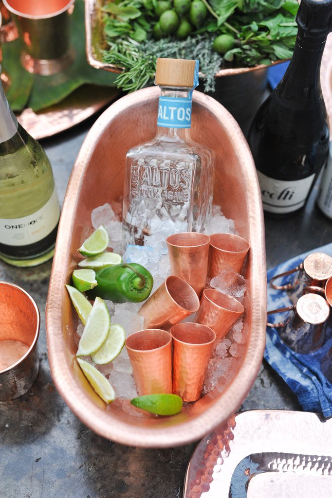Tequilero Copper Shot Cup