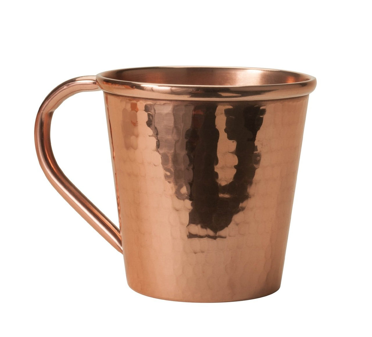 Solid Copper Moscow Mule Mug, Copper Handle, 12 oz