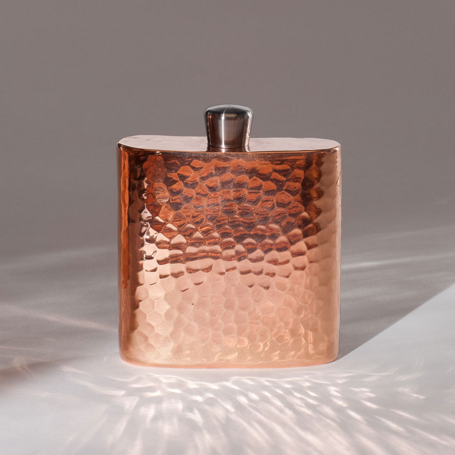 Espadín Copper Square Hip Flask