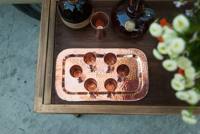 Copper Charolita Tray