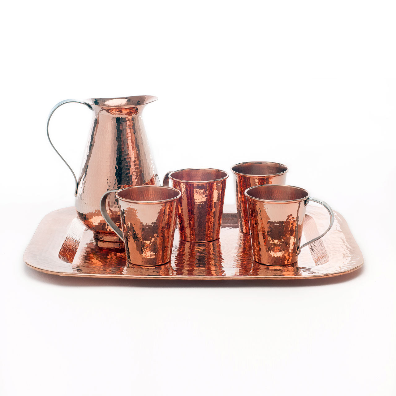 Copper Moscow Mules for Four Set