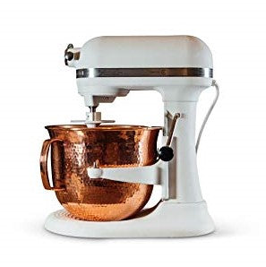 Copper Mixing Bowl, 6 quart, for KitchenAid Professional 6500 Mixer