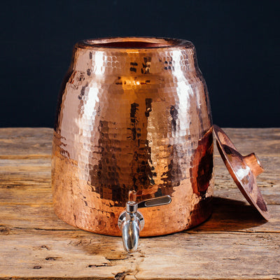 Niagara Copper Water Dispenser with Lid