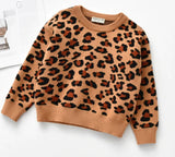 Leopard Knit Crew Necks