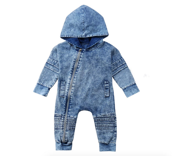 Mister Denim Hooded Romper