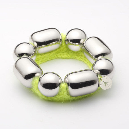 Bracelet-BELLA-chrome and mohair