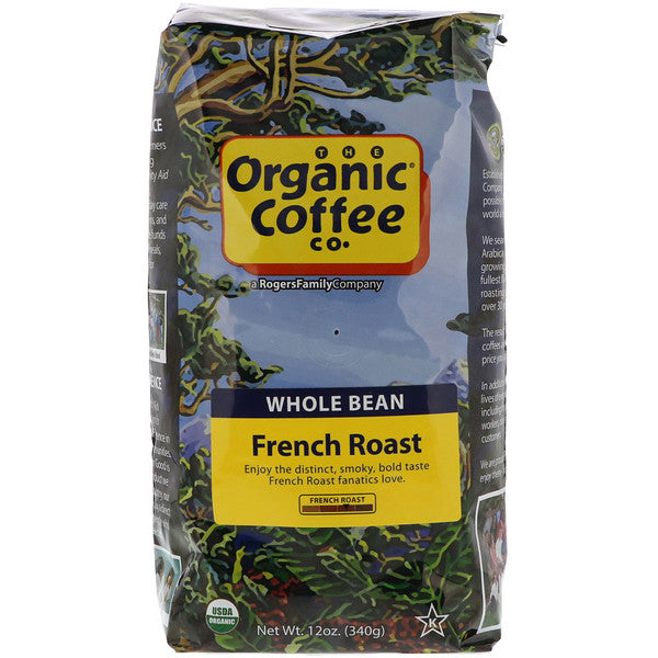 Coffee French Roast Whole Beans Organic