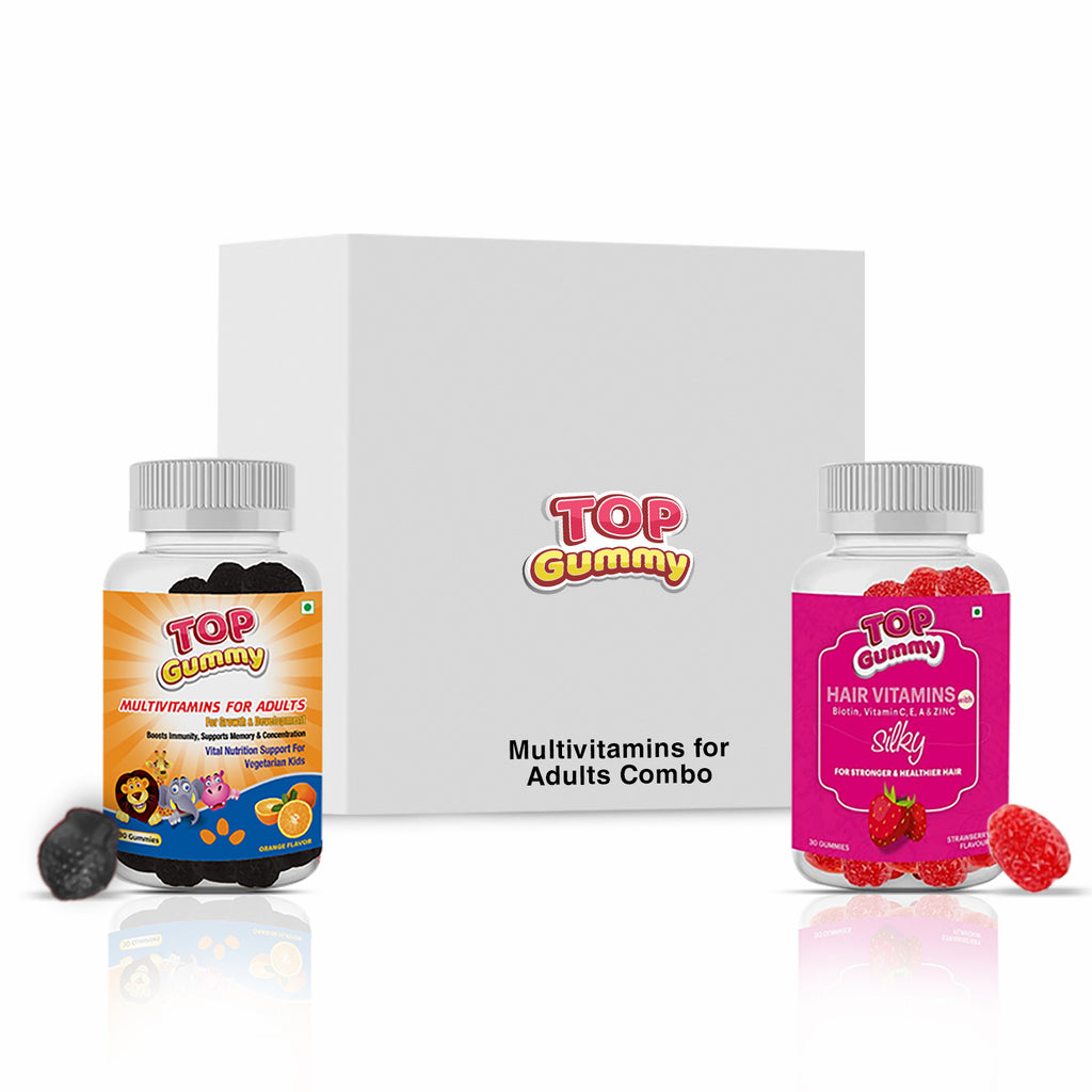 Adults Combo (Adults + Hair Vitamins Gummies)