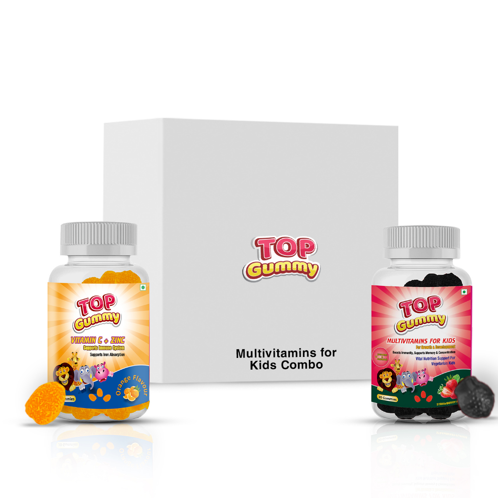 Top Gummy Kids Combo (Kids + Vitamin C, Zinc Gummies )