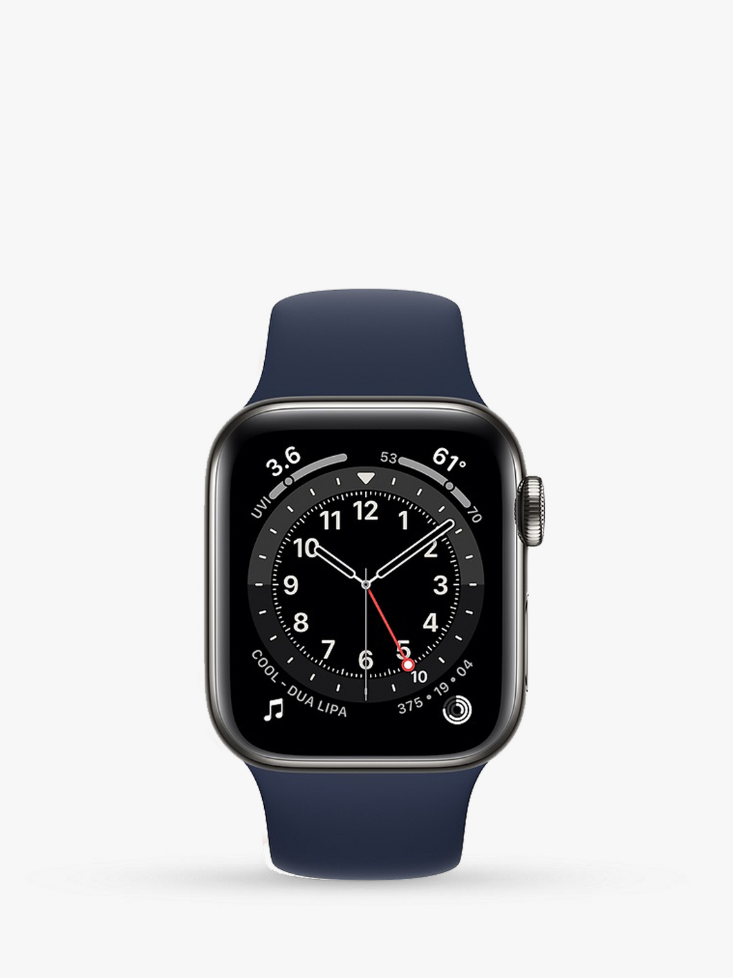 Smart Watch: Black with Navy Bracelet