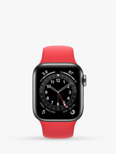 Load image into Gallery viewer, Smart Watch: Black with Red Bracelet