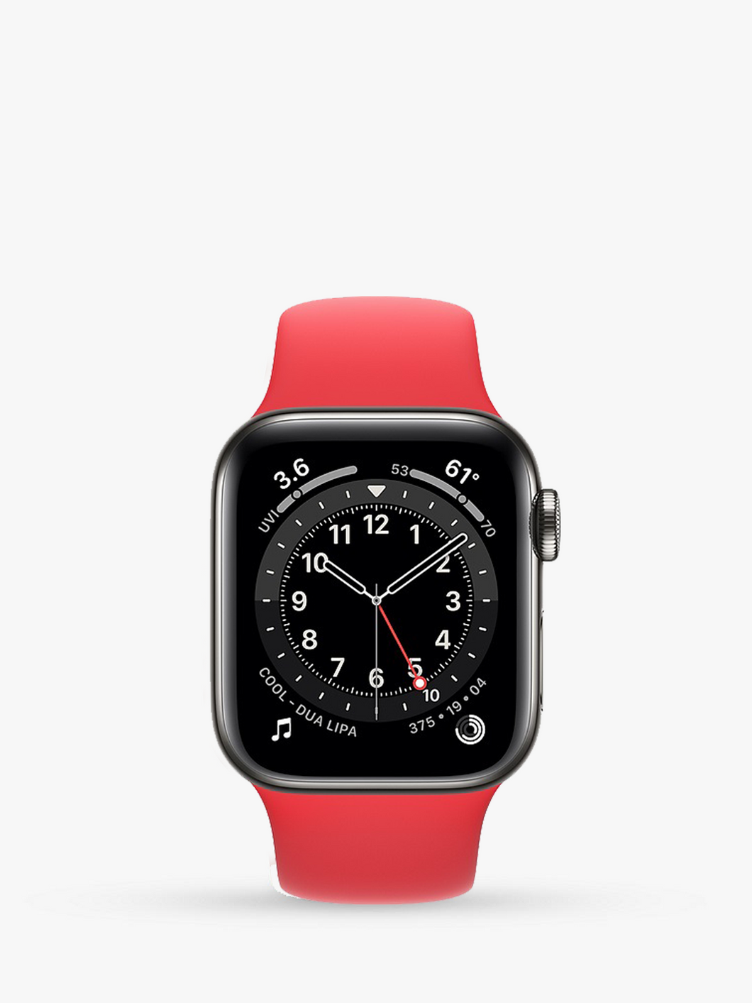 Smart Watch: Black with Red Bracelet