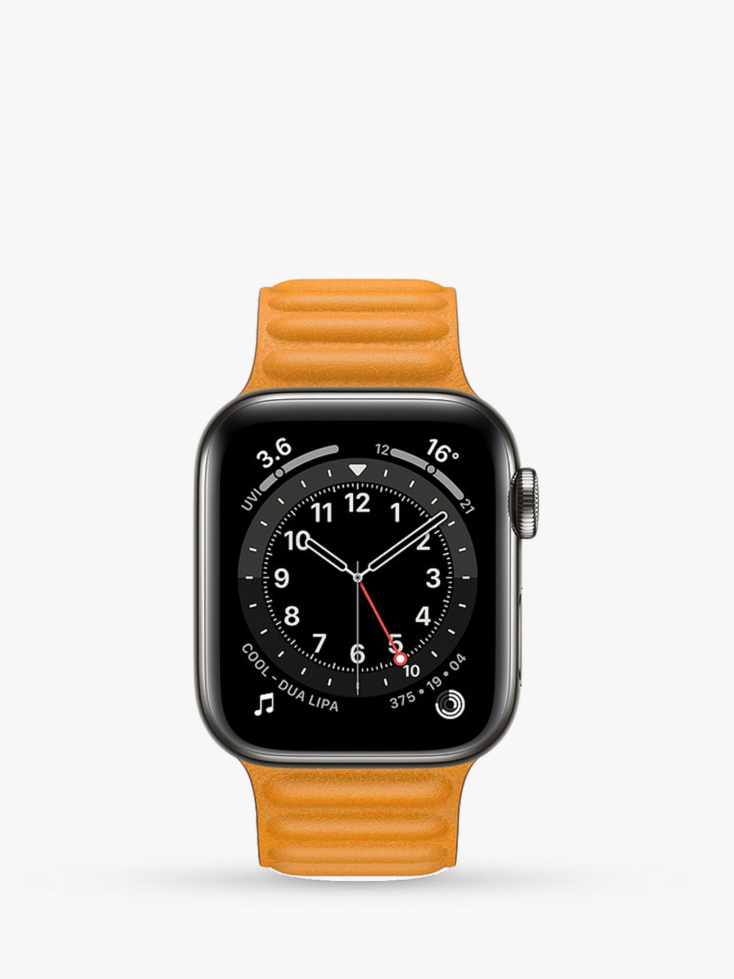 Smart Watch: Black with Sunset Leather