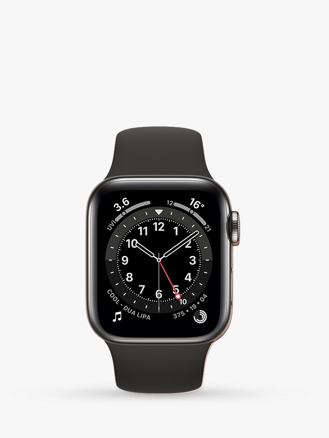Smart Watch: Black with Black Bracelet