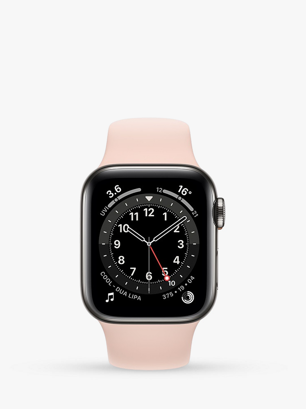 Smart Watch: Black with Pink Bracelet