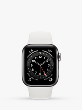 Load image into Gallery viewer, Smart Watch: Black with White Bracelet