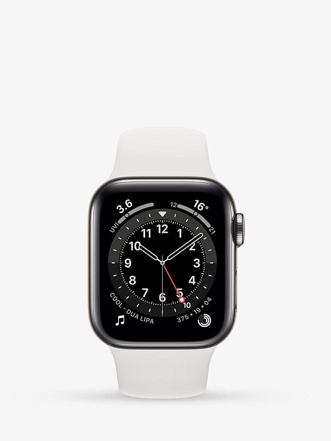 Smart Watch: Black with White Bracelet