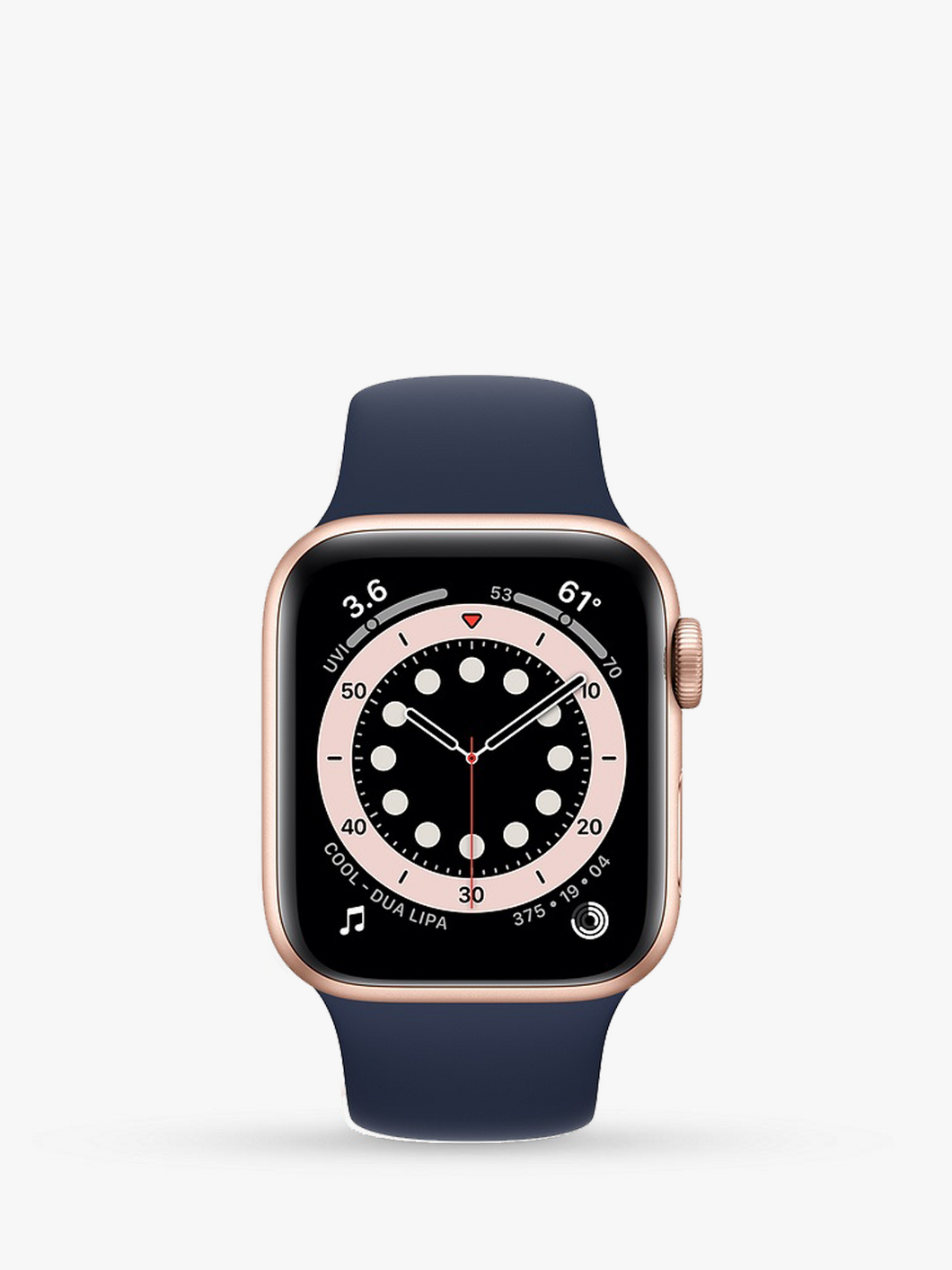 Smart Watch: Rosegold with Navy Blue Bracelet