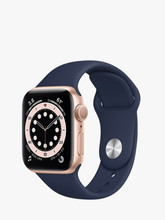 Load image into Gallery viewer, Smart Watch: Rosegold with Navy Blue Bracelet