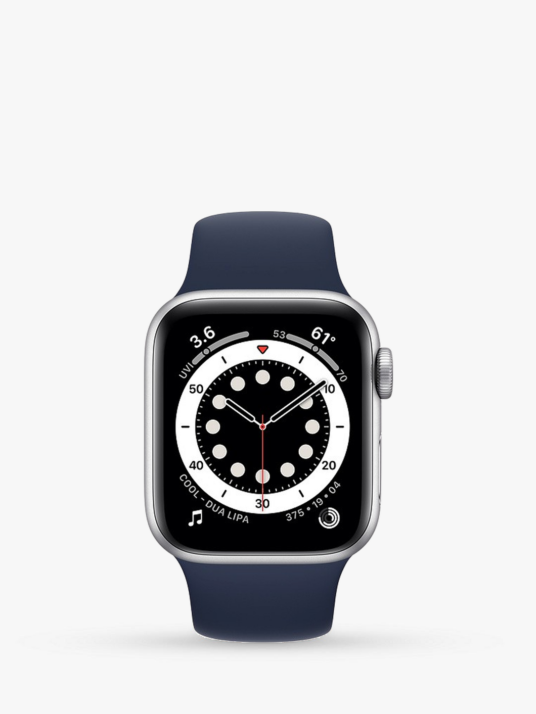 Smart Watch: Silver with Navy Blue Bracelet