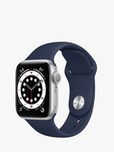 Load image into Gallery viewer, Smart Watch: Silver with Navy Blue Bracelet